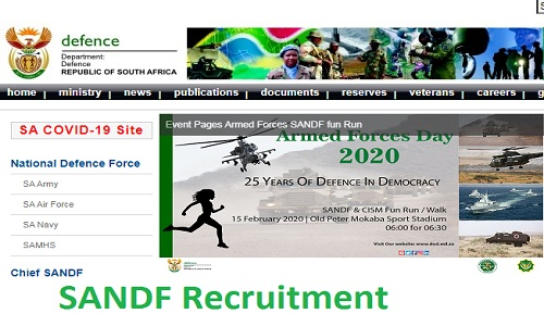 SANDF Recruitment 2021 - Department of Defence Jobs in South Africa