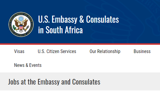 US Embassy South Africa Jobs