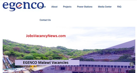EGENCO Malawi Vacancies 2020 Electricity Generation Company Limited Jobs in Malawi