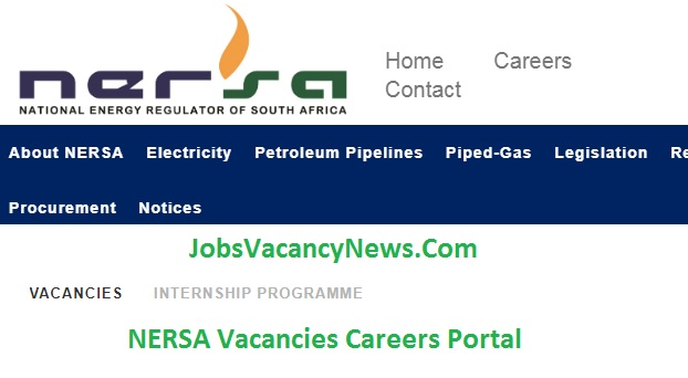 NERSA Vacancies 2021 - Jobs Vacancies in National Energy Regulator of South Africa