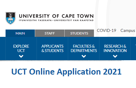UCT Online Application 2021 Admission are Open Undergraduate & Post Graduate Program